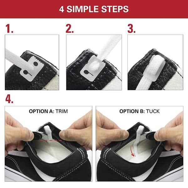 cách giấu dây giày vans