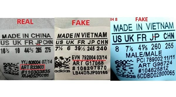 cách kiểm tra giày adidas chính hãng