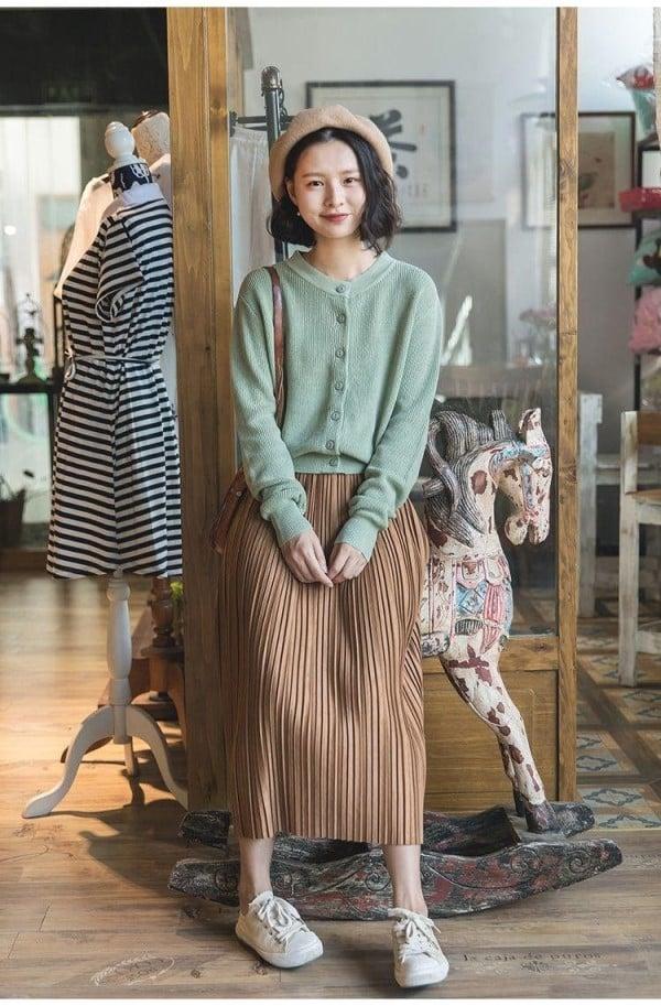 chân váy vintage dài