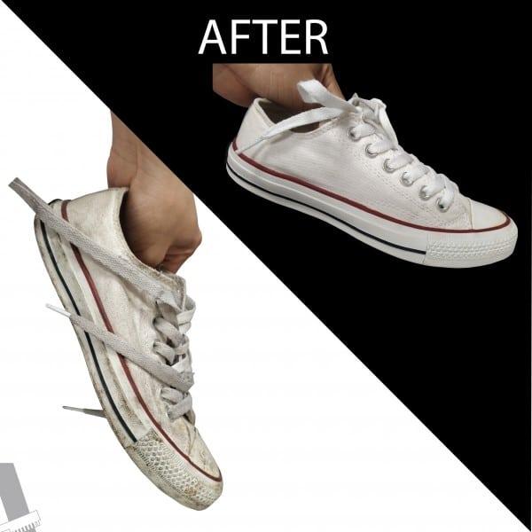 giặt giày converse vải