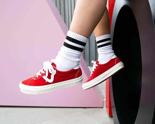giày vans nữ đỏ