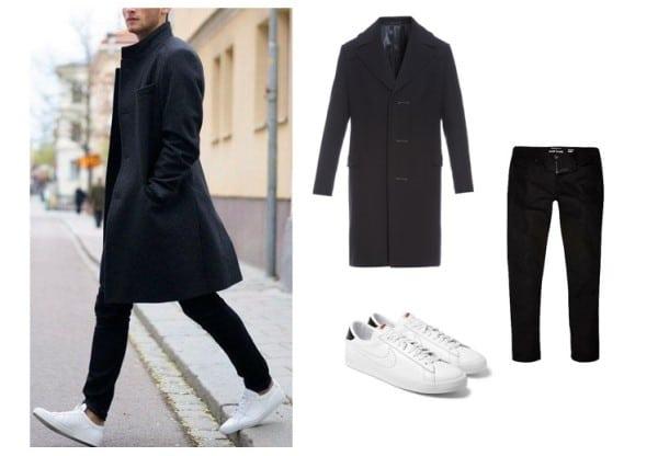 kết hợp giày thể thao với quần áo