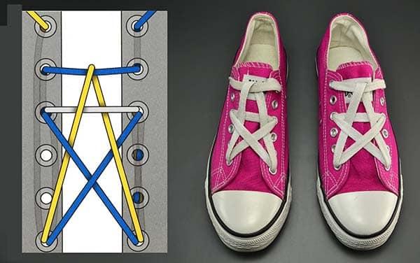 cách thắt dây giày converse đẹp